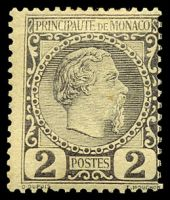 Lot 24903:1885 Charles III SG #2 2c dull lilac, toned, Cat £65.