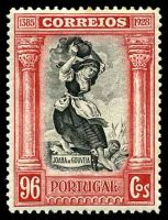 Lot 4186:1928 Independence SG #792 96c black & carmine, Cat £35.