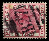 Lot 4117:B27: of Keta on 1884 1d.
