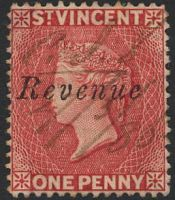 Lot 4588:Revenue: 1882-83 'Revenue' on 1d red.