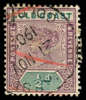 Lot 3550:Obuasi: '[OB]UASSI/21NOV/1902/GOLD C[OAST]