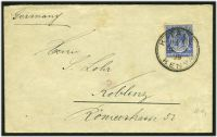 Lot 3866:Kitale: double-circle 'KITALE/1145AM/OC9/29/KENYA' on 30c on cover to Germany.