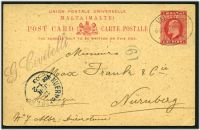 Lot 3952:1902-06 KEVII HG #6 1d carmine on buff, cancelled with oval 'VALLETTA/6.30PM 9JU03/MALTA' (A1).