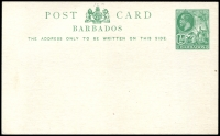 Lot 3721:1913 HG #11A ½d green on white.
