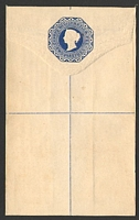 Lot 20482:1881 HG #C4 2p blue on white size F with straight edges.