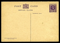 Lot 4282:1926 HG #13 1d+1d violet on buff.