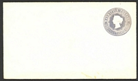 Lot 24934:1878 HG #B9 8c milky blue on thick white wove paper size complete.