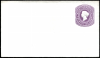 Lot 4329:1878 HG #B10 25c violet on thick white wove paper size complete.