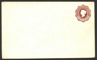 Lot 4330:1878 HG #B11 50c reddish brown on thick white wove paper size F.