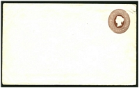 Lot 24937:1882 HG #B12 50c reddish brown on thick white wove paper size F.