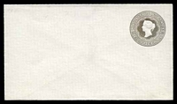 Lot 24938:1882 HG #B13 8c milky blue (oxidized to greyish brown) on thick white paper.