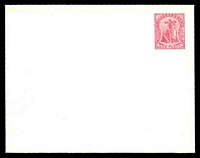 Lot 25012:1903 Badge HG #B1 1d carmine on cream laid paper.