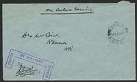 Lot 26941:1942 use of stampless OAS cover to Nkana, cancelled with double-circle 'NDOLA/20AUGD42/N. RHOD[ESIA]