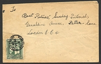 Lot 4148:1933 use of ½d Abolition on untaxed cover to UK, cancelled on DE13/33.