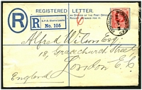 Lot 27369:1902 HG #C2a 2d blue size g, cancelled on 13JU10, flap sealed with wax.