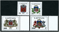 Lot 4279:1994 Arms SG #400,402-4 30s to 200s, Cat £16. (4)
