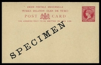 Lot 28474:1893 HG #5 1d carmine on buff, with diagonal 'SPECIMEN'.