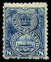 Lot 4221:1899-1903 Pictorials No Wmk Perf 11 SG #266 8d indigo, Cat £28, couple of toned perfs.