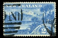 Lot 3964:1898 No Wmk Perf 12-16 SG #249 2½d sky-blue 'LAKE WAKITIPU', Cat £25.
