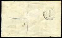 "Lot 1003 [2 of 2]:1948 cover with 2½d only, cancelled with 'TUMBLONG/28JA48/N.S.W' (C1), mss ""OR/No28"" (Officially Registered - presumably the letter contained cash), opened-out, a bit tatty."
