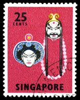 Lot 4364:1968-73 Cultural Artifacts SG #108a 25c Lu Chih Shen & Lin Chung, Cat £13.