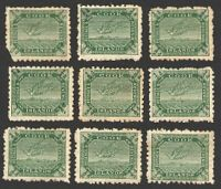 Lot 21270:1902 Wmk Single NZ/Star SG #28 ½d yellow-green Tern x20, P11, Cat £55.