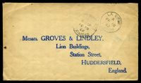 Lot 26072 [1 of 2]:1922 use of 1d red x2 (SG #150) on back of cover to England, cancelled with 'LA BREA/A/FE18/22/TRINI