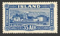 Lot 3973:1925 Pictorials SG #154 35a blue, Cat £90, hinge remainder.