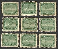 Lot 3353:1902 Wmk Single NZ/Star SG #28 ½d yellow-green Tern x20, P11, Cat £55.