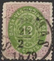 Lot 20737:1873-1902 Bi-Colours Perf 14x13½ SG #27 12c yellow-green & reddish purple, Cat £100.