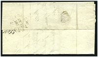 "Lot 4077 [2 of 2]:1835 entire with black ""6"" to Wells, unframed 'BRIDGEWATER/MY12/1835/=' (B1) on back."