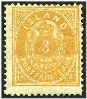 Lot 3639:1882 New Colours Perf 14x13½ SG #20 3a brownish ochre, Cat £110, hinge remainder, guarantee? handstamp on back.