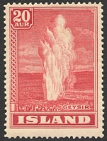 Lot 3740:1938 Geysers SG #227 20a red, Cat £28.
