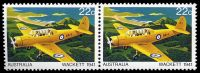 Lot 789:1980 Aircraft BW #883e 22c pair one with Large red dot on wing [ShA L6/3-4], Cat $10.