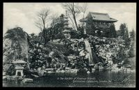 Lot 111:Great Britain - 1911 Coronation Exhibition: Valentine official Black & White PPC #668 of 'In the Garden of Floating Islands,/Coronation Exhibition, London, 1911.', showing waterfall in Japanese? garden.