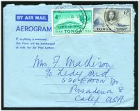 Lot 28910 [1 of 2]:1962 use of 4d UPU and 6d Aerodrome on formular aerogramme, to USA.