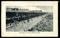 Lot 508 [1 of 2]:Great Britain: photo PPC of 'East Beach & Cliffs (1) Clacton-on-Sea.', ½d cancelled with double-circle 'CLACTON-ON-SEA/1245PM/JY29/12/+' (B1).