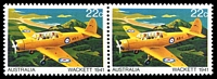 Lot 3399:1980 Aircraft BW #883e 22c pair one with Large red dot on wing (ShA L6/3-4), Cat $10.