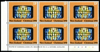 Lot 4435:1976 Christmas SG #1130 11c Plate '1B1B1B1B1B1B' block of 6, (CP #SC17b6, Cat $15).