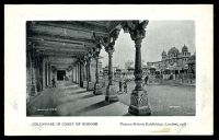 Lot 87:Great Britain - 1908 Franco-British Exhibition: Valentine official black & white PPC with white border of 'COLONNADE IN COURT OF HONOUR Franco-British Exhibition, London, 1908' 'COPYRIGHT' 5mm from base.