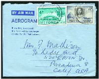 Lot 25739 [1 of 2]:1962 use of 4d UPU and 6d Aerodrome on formular aerogramme, to USA.