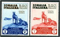 Lot 25312 [3 of 3]:1934 Colonial Exhibition SG #193-8 set of 6 air issues, Cat £19, couple of stamps have minor gum toning.
