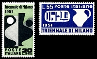 Lot 4230:1951 Milan Triennale SG #839-40 set of 2, Cat £42.
