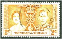 Lot 26114:Arima: 'ARIMA/28-5-27A/TRINIDAD' type D6 on 2c Coronation. [Rated 50 by Proud]