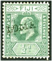 Lot 22063:Loma Loma (2): '[LOMA] LOMA' straight-line handstamp on KEVII ½d green.  PO 1/11/1909.