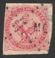 Lot 4397:1859-65 Eagle SG #6 80c rose 3½-margins, Cat £28, cancelled with 'MQ[E]