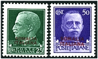 Lot 25051:1931 Definitives SG #152-3 25c green & 50c bright violet, Cat £18.50.