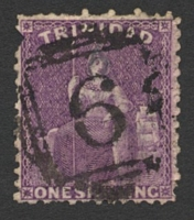 Lot 4742:6: of Arouca on 1/- bright deep mauve. [Rated 200 by Proud]