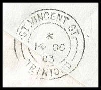 Lot 28197 [3 of 3]:St. Vincent Street: double-circle 'ST. VINCENT ST./*/14OC/83/[TRINIDAD]