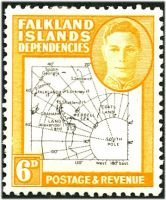 Lot 21819:1946-49 Thin Maps SG #G14 6d, Cat £24.